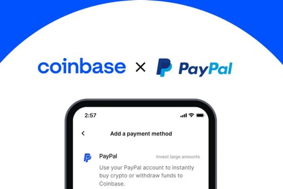 Collaboration entre Coinbase et PayPal